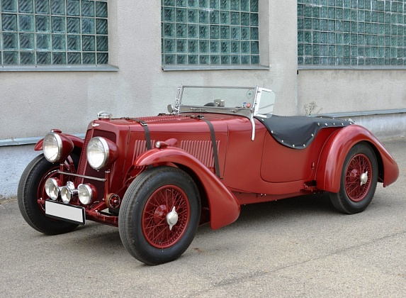 ретро автомобиль Aston Martin 15/98 Short Chassis Roadster, Mille Miglia!